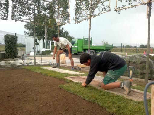 aménagement espace commun jardin privatif