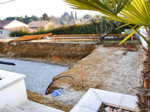 Création d'une piscine extérieure
