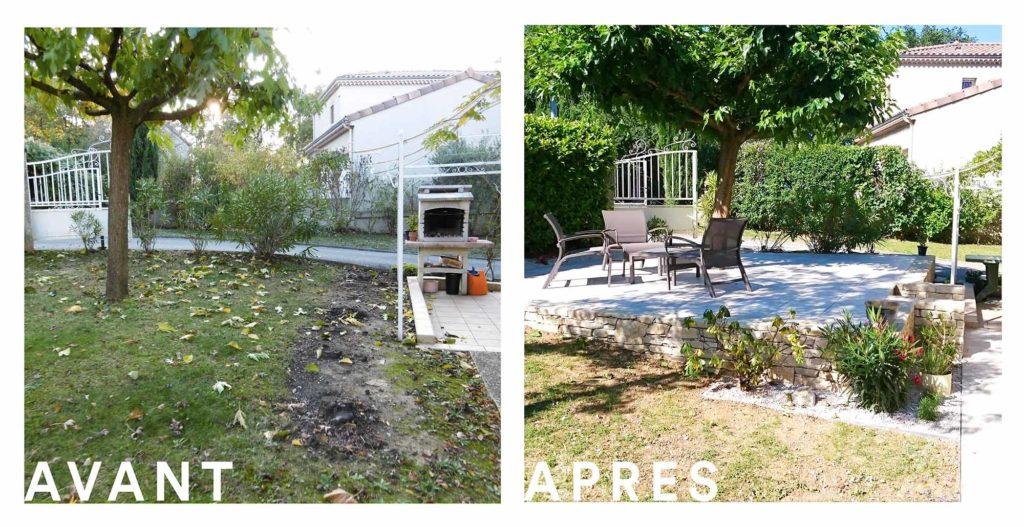 Aménagement d\'une terrasse arborée - Valente